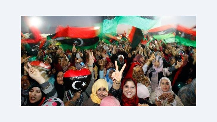 Frauendemonstration in Benghasi nach dem Sturz Gaddafis; Foto: dpad