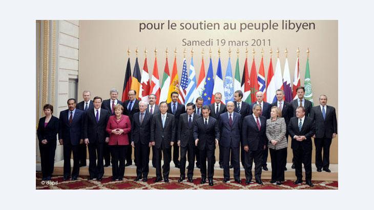 Libyen-Sondergipfel im Elysee Palast, Paris, 19. März 2011; Foto: dapd