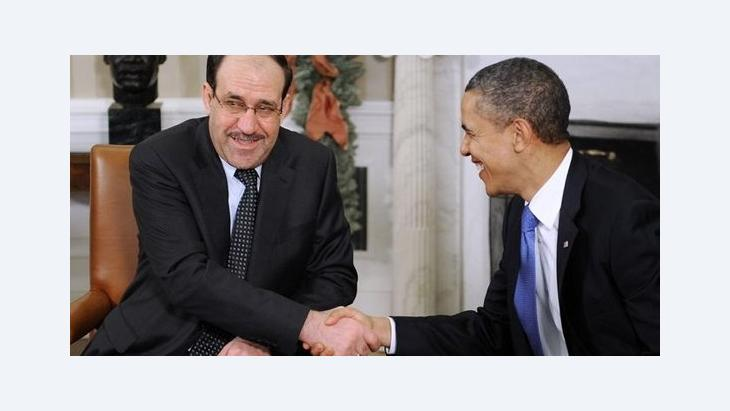 US-Präsident Barack Obama und der irakische Ministerpräsident Nuri al-Maliki; Foto: picture-alliance/dpa