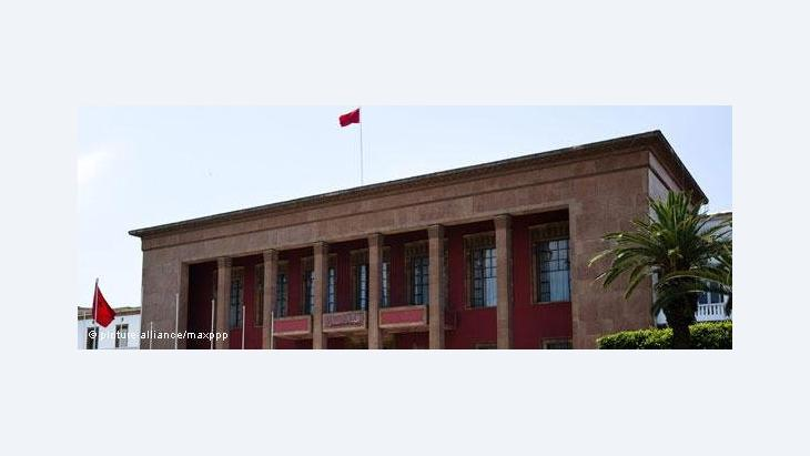 Marokkanisches Parlament in Rabat; Foto: picture alliance