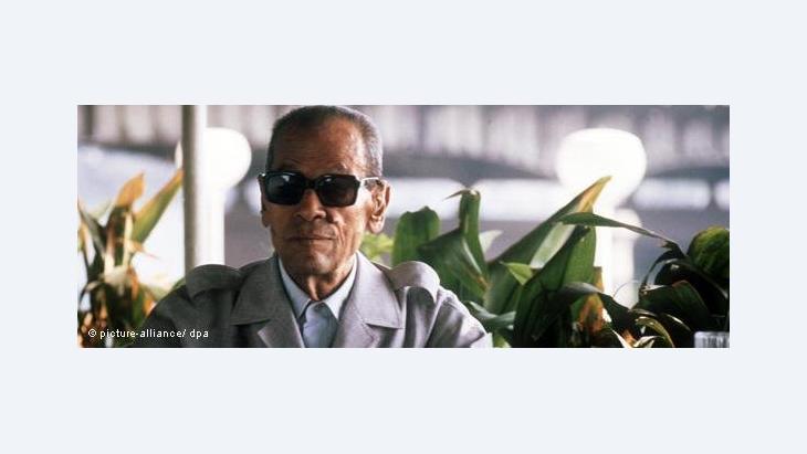 Nagib Machfus am Tag der Bekanntgabe der Auszeichnung mit dem Literaturnobelpreis, 13. Oktober 1988; Foto: dpa