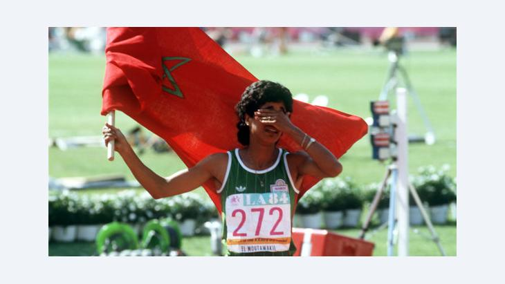 Die marokkanische Hürdenläuferin Nawal el Moutawakel, Foto: picture-alliance/dpa