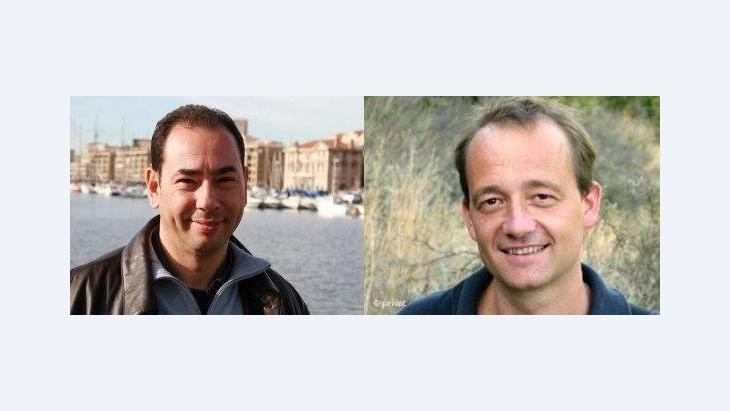 Khaled Al-Khamissi (links) und Stefan Weidner; Fotomontage: Susanne Schanda/DW