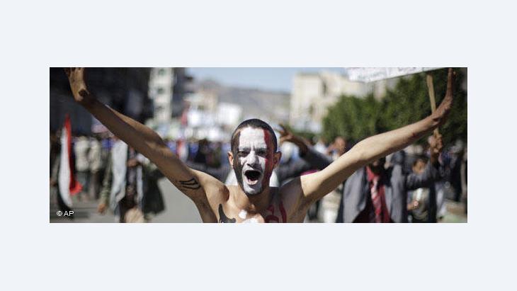 Demonstrant im Jemen; Foto: AP