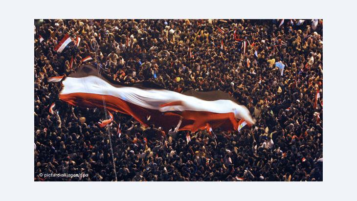 Protestkundgebung auf dem Tahrir-Platz in Kairo; Foto: dpa