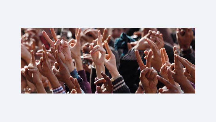 Demonstration auf dem Tahrir-Platz; Foto: AP