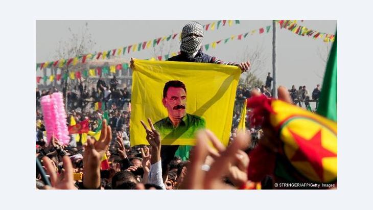 Anhänger von PKK-Rebellenchef Abdullah Öcalan bei Diyarbakir; Foto: Springer/AFP/Getty Images