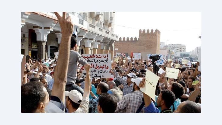 Anti-Regierungsproteste der Bewegung 20. Februar in Rabat; Foto: AP