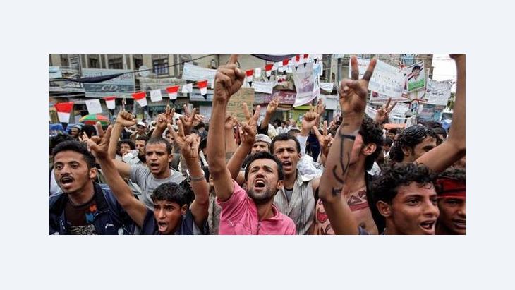 Demonstration gegen Ali Abdullah Saleh in Sanaa; Foto: dapd
