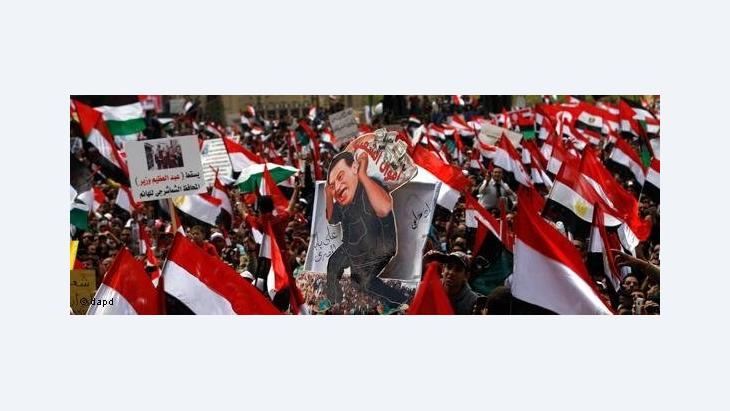 Anti-Mubarak-Demonstration; Foto: dapd