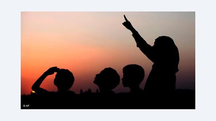 Mondsichtung vor dem Ramadan; Foto: AP