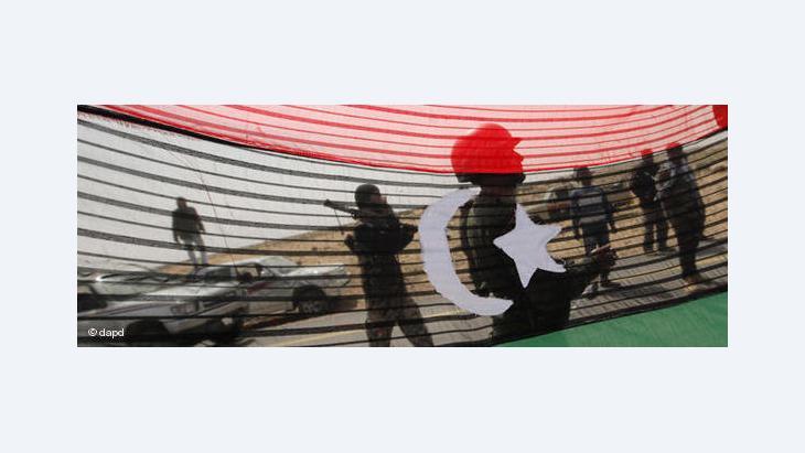 Libysche Rebellen in der Stadt Al-Agila; Foto: dapd