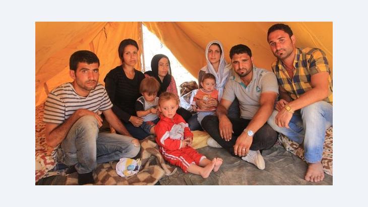 Flüchtlinge in Domiz; Foto: Jan Kuhlmann