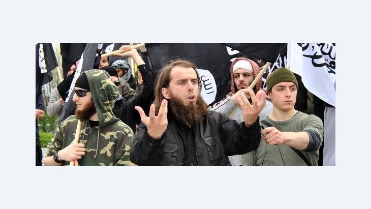 Salafisten-Demonstration in Solingen; Foto: dpa