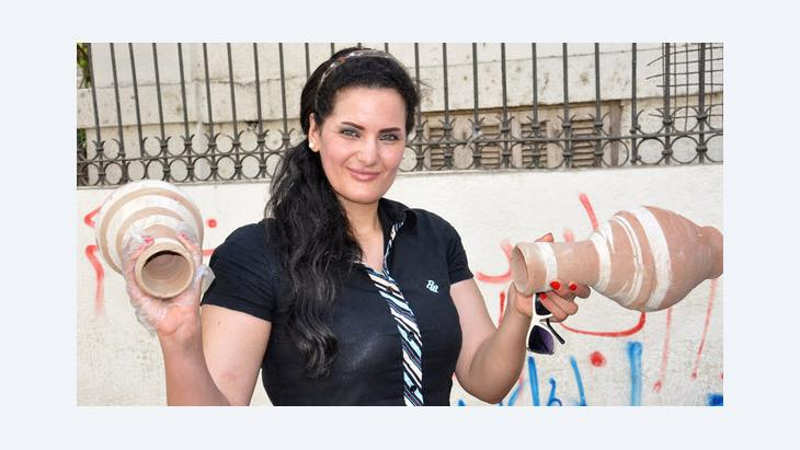 Ägyptische Bauchtänzerin Sama al-Masri; Foto: dpa/picture-alliance