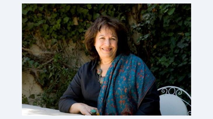 Samiha Khrais während einer Lesung; Foto: privat
