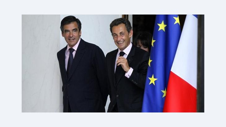 Frankreichs Präsident Sarkozy und Premier Fillon im Elysée-Palast; Foto: Reuters