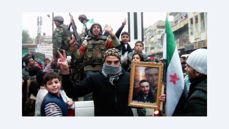 Soldaten der Freien Syrischen Armee in Khalidieh bei Homs, Syrien; Foto: Reuters