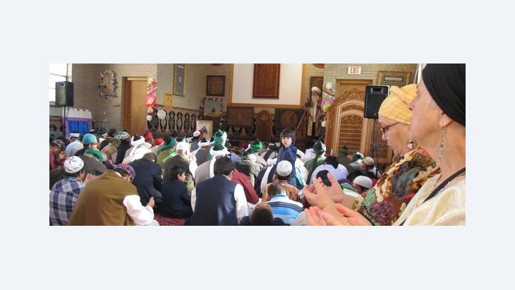Gläubige im Naqshbandi-Haqqani-Sufi-Orden in Michigan; Foto: Mary Fowles