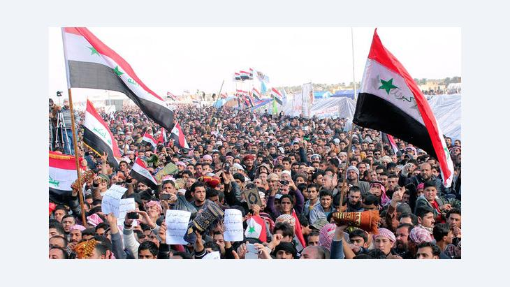 Sunnis demonstrieren in Ramadi, Foto: Reuters