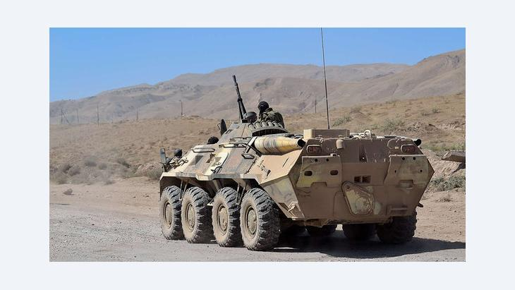 Panzer der tadschikischen Armee auf dem Weg nach Chorog, Foto: DW/Galym Fashutdinov