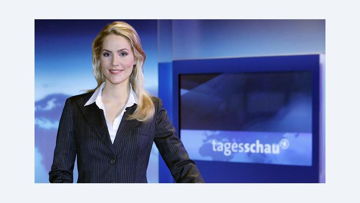 Die Tagesschau in der ARD; Foto: Sebastian Widmann/dpa