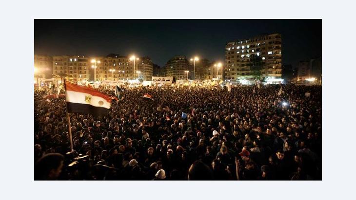 Hunderttausende Ägypter demonstrieren auf dem Tahrir-Platz in Kairo gegen Präsident Mursi, November 2012; Foto: dapd
