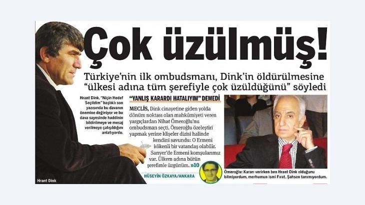 Mehmet Nihat Ömeroğlu, Foto: Zeitungsausschnitt Taraf