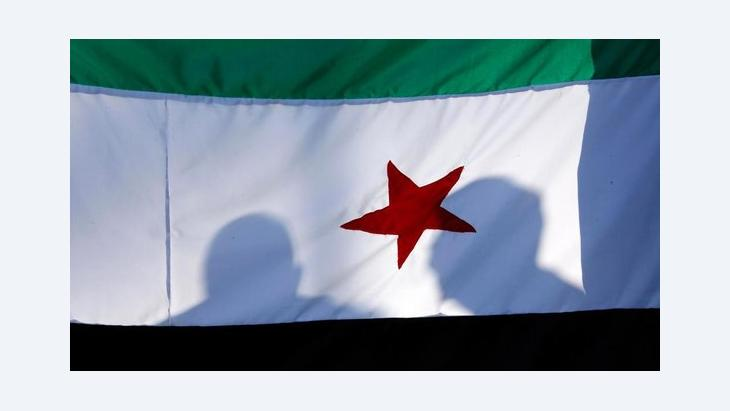 Flagge der syrischen Opposition; Foto: Reuters