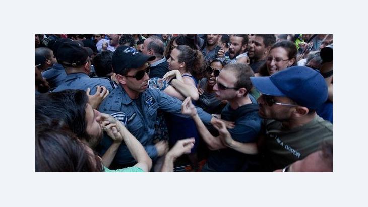 Proteste gegen soziale Ungerechtigkeit in Tel Aviv am 22. Juni 2012; Foto: picture-alliance/dpa
