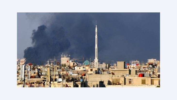 Rauchwolken über Damaskus nach dem Attentat am 18. Juli 2012; Foto: dapd
