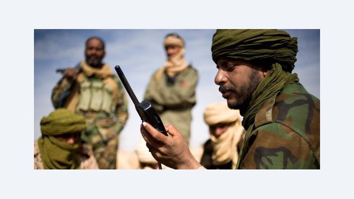 Tuareg-Rebellen in Nordmali am 15.02.2012; Foto: picture alliance/Ferhat Bouda