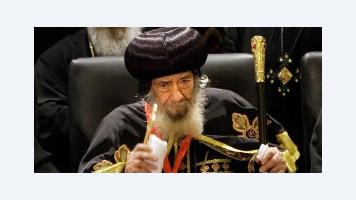 Der koptische Papst Shenuda III.; Foto: Amr Nabil/AP/dapd