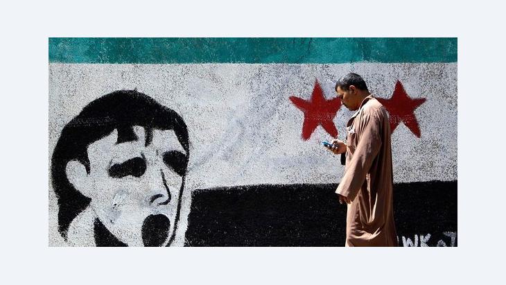 Wandbild der Freien Syrischen Armee; Foto: Reuters