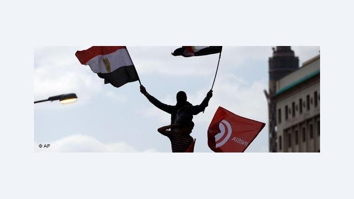 Demonstrant auf dem Tahrir-Platz in Kairo; Foto: AP