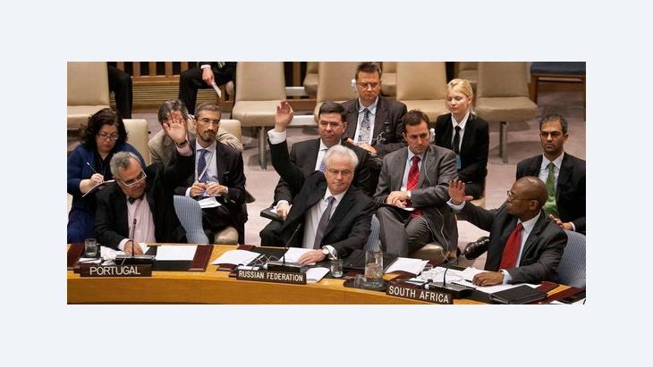 Abstimmung zu Syrien-Resolution im UN-Sichreheitsrat; Foto: Reuters
