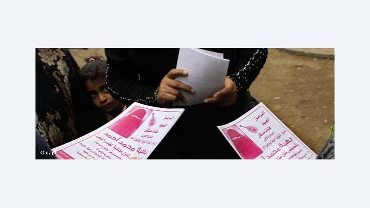 Wahlwerbung für Baheya Mohammed, die erste ägyptische Kandidatin, die einen Niqab trägt; Foto: dapd