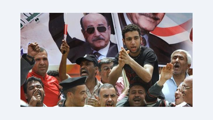Anhänger Omar Suleimans in Kairo; Foto: AP