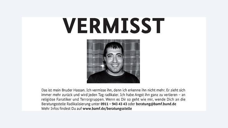 Vermisst-Kampagne des Bundesinnenministeriums; Foto: initiative-sicherheitspartnerschaft.de