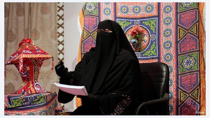 Moderatorin mit Niqab, Foto: dapd
