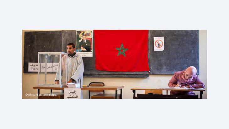 Wahllokal in Marokko; Foto: dpa