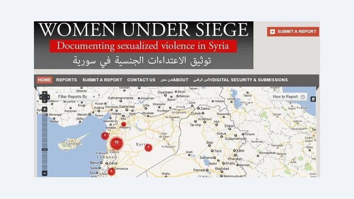 Screenshot der Kampagne 'Women under Siege'