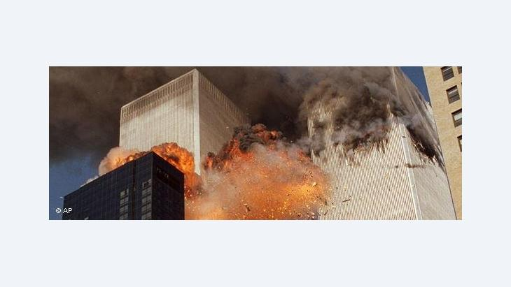 Explosion am World Trade Center am 11.September 2011; Foto: AP