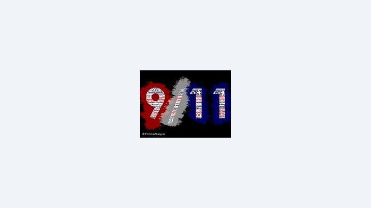 Symbolbild 9/11; Foto: Typographic Illustration © Naiyyer/DW