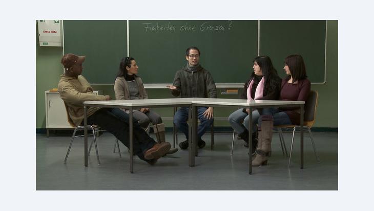 Integrationskurs, Filmszene aus 'Werden Sie Deutscher' von Britt Beyer; Foto: Marcus Lenz
