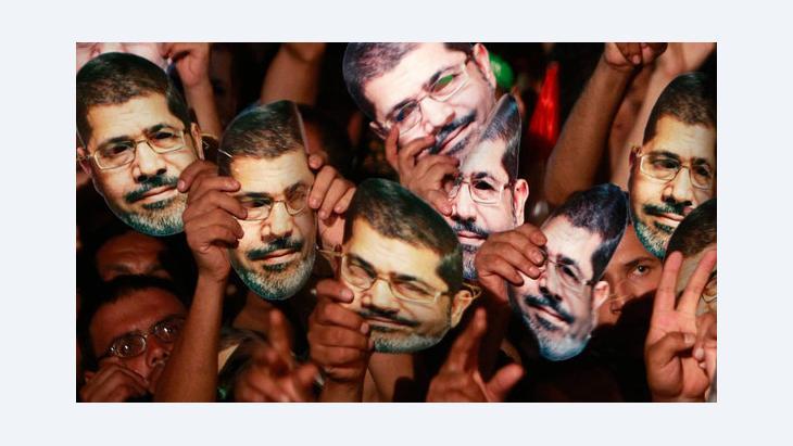 Anhänger des gestürzten ägyptischen Präsidenten protestieren in Kairo; Foto: Reuters