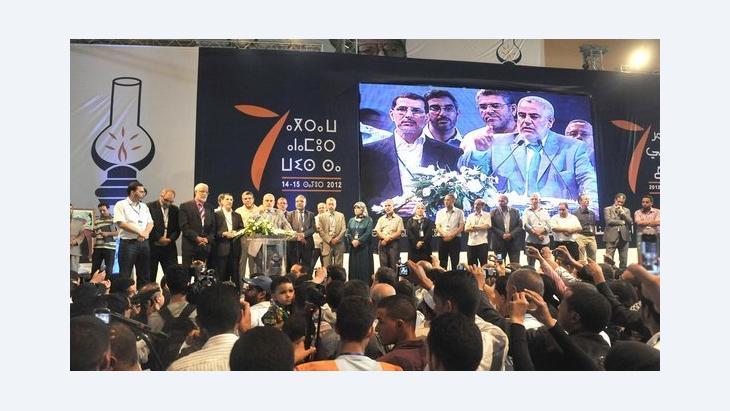 Kongress der PJD mit Ministerpräsident Benkirane; Foto: DW/Smail Bellaoua