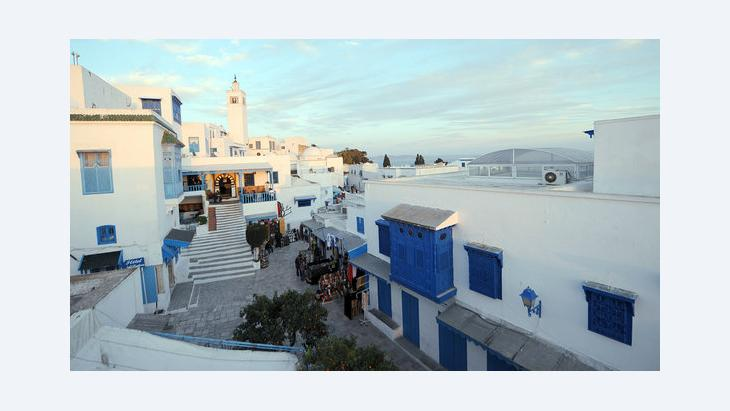 Das tunesische Dorf Sidi Bou Said; Foto: FETHI BELAID/AFP/Getty Images