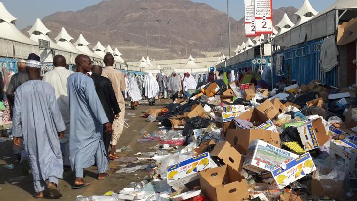 Auf der Pilgerfahrt nach Mekka; Foto: DW/A. Abubakar