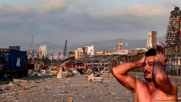 Die Detonationen verursachten in der nahen Umgebung eine Trümmerwüste.